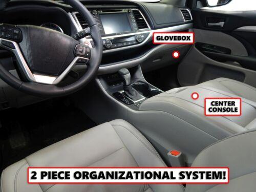Fits  Toyota Highlander 14-19 Vehicle Organizer Insert Center Console Glove Box