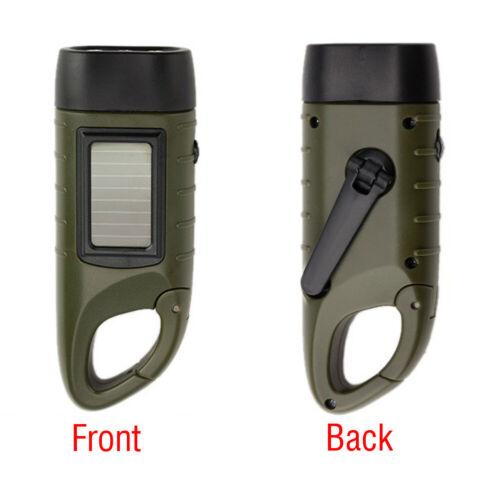 Handkurbel Solar Powered Wiederaufladbare LED Camping Notfall Taschenlampe
