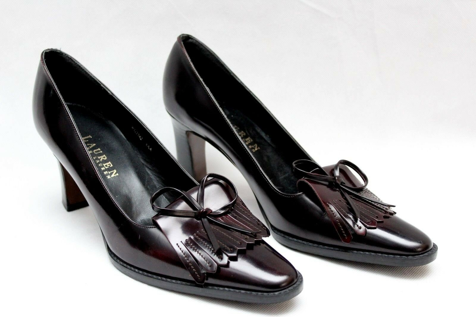 Ralph Lauren braun damen Kiltie Tassel Leather Pumps US 8 8 8 a17b7b
