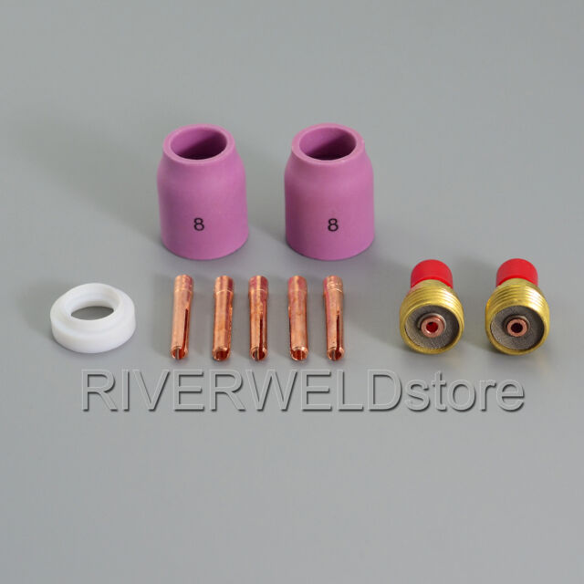 TIG Gas Lens Collet Body Accessory KIT TIG Welding Torch WP-9 WP-20 WP-25,10PK