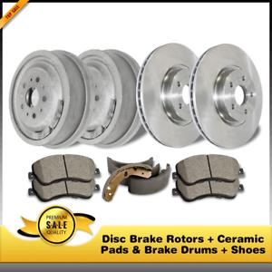 Shoes For Jeep Cherokee Ceramic Pads /& Brake Drums Disc Brake Rotors