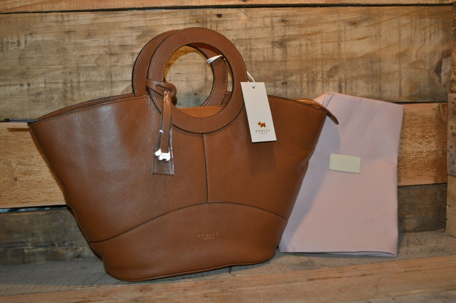 Market Street Brown Tote Purse 15022