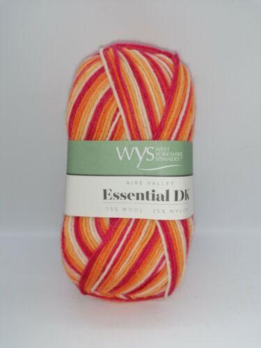 West Yorkshire Spinners Aire Valley Essentials DK 75/% British Wool 100g Ball