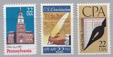USA (60) 3 Werte aus Jahrgang 1987: 1942  1949  1950  postfrisch