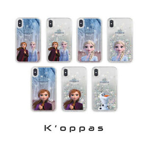Official-Disney-Frozen2-Glitter-Phone-Case-Cover-For-iPhone-Galaxy-100-Authentic
