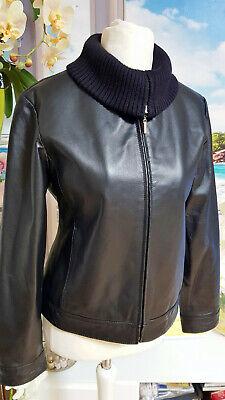 Damen Jacke Lederjacke Pilotenjacke YESSICA leicht gesteppt wie NEU Gr.38 | eBay