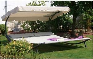 Image is loading Hammock-With-Stand-2-Person-Chaise-Lounge-Patio- : 2 person chaise lounge - Sectionals, Sofas & Couches