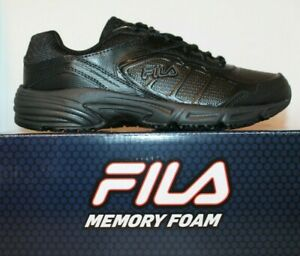 1e971eac03 Details about Womens Fila Memory Foam Runtronic SR Slip Resistant Coolmax  Work Shoes Black