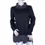 thumbnail 1 - Adrianna Papell Polkadot Black Collared Layered Lightweight Long Sweater Medium