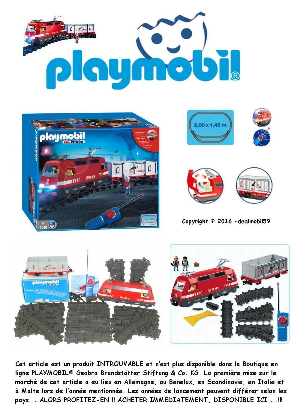 PLAYMOBIL® 4010 Train Loco PM Tlcde Tlcde Tlcde RC Wagon Figurines Rail   BOX   TBEG  5   1E cb4ac6