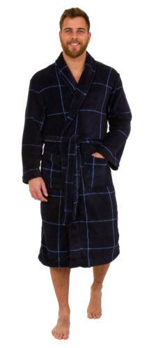 da vestaglia scuro a motivo blu quadri Accappatoio caldo pile taglie disponibili uomo in dXqwwx6pT