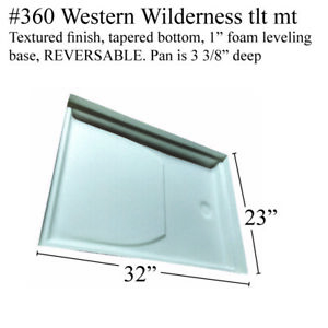 Details about Western Wilderness RV shower pan with toilet mount Fiberglass  #360 Polar White