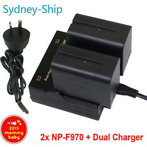 Dual-2xBattery-for-Sony-NP-F970-NP-F770-Camcorder-LED-Video-Light-Lamp-AU-ship