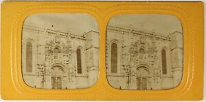 Amiens-Cattedrale-Francia-Foto-Stereo-PL54L4n-Diorama-Vintage-Albumina-c1870