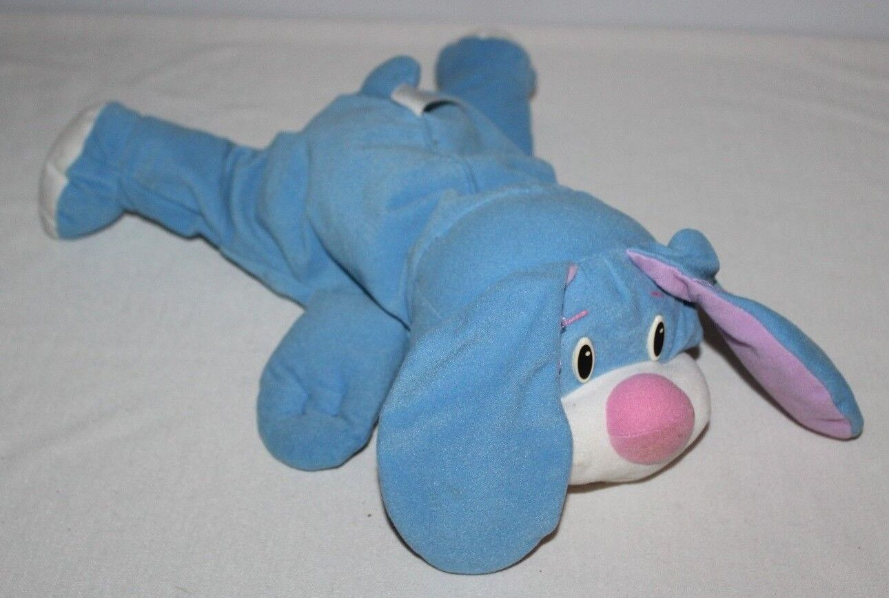 1998 Fisher Price bluee Rumple Rumble Puppy Dog Plush Stuffed Toy Vintage 17