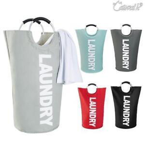 Large-Foldable-Laundry-Washing-Clothes-Basket-Bag-Bin-Hamper-Tidy-AU