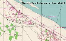 D DAY 6TH JUNE 1944, TOP SECRET MAPS, OVERLORD, OMAHA JUNO, SWORD, GOLD, UTAH.