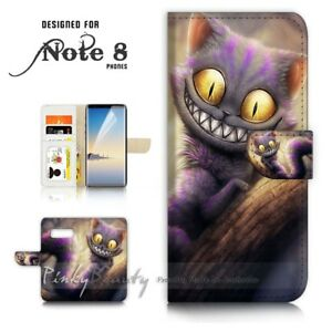 For-Samsung-Note-8-Wallet-Case-Cover-P21073-Cheshire-cat