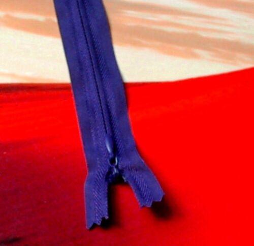 Reißverschluss Zipper Reißverschlüsse unsichtbar unvisible Farbwahl 20-60 cm