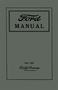 1920-1924-1925-1926-Ford-Car-Truck-Owners-Manual-Guide-Instruction-Operator-Book