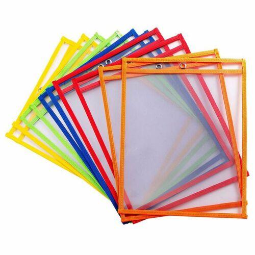10 Dry Erase Pockets, Oversize 9 x 12 Inch Pockets, Perfect Classroom O A2P6 2X