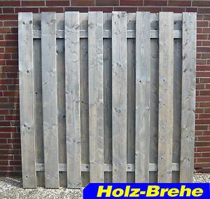 Scheerer Zaune Nordheide Holz Fichte Kdg Grau Sichtschutzwand
