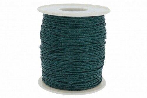 0,12€  // 1 lfm 80 lfm Baumwollband gewachst dunkel grün A150-80 Meter// 1mm