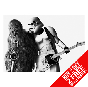 BUY 2 GET ANY 2 FREE STAR WARS BRUCE SPRINGSTEEN BORN TO RUN POSTER A4 A3 SIZE