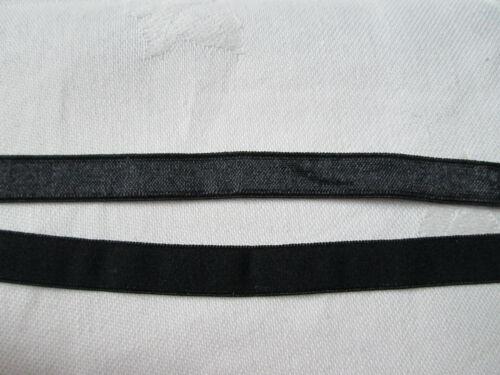 Negro 5m o 10m Acabado satinado 10mm ligeramente Plushed trasera elástica