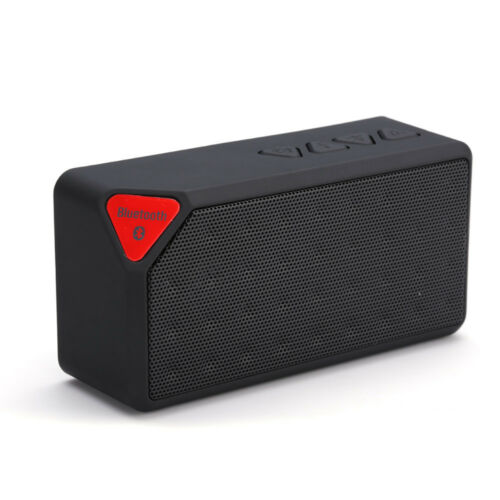 FM Radio USB Wireless Bluetooth Portable Speaker Card Reader LED // Black
