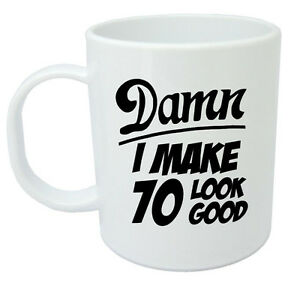 Image Is Loading Damn 70 Mug 70th Birthday Gifts Presents Gift