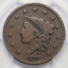 1839/6 N-1 PCGS VG 08 Matron Head Large Cent Coin 1c