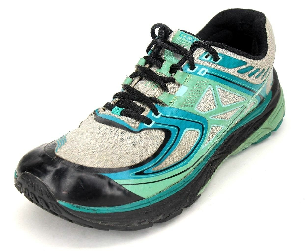 Topo Femme Ultrafly Teal Blanc And Noir Athletic Running Chaussures