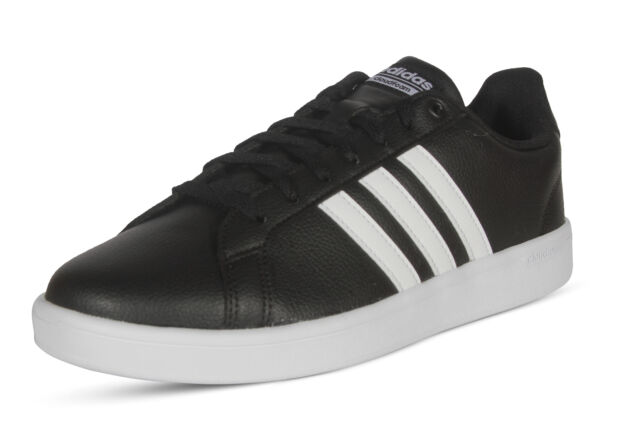 Men s adidas Neo Cloudfoam Advantage 3 Stripe Black Lifestyle Shoes ... 88d06afee