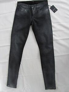 pantalon Taille enduit Le skinny d'argent Joe's Jeans 24 pistolet en métal wCqPP