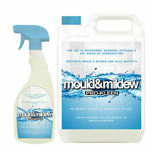 BATHROOM MOULD REMOVER SHOWER DAMP MOLD KILLER SPRAY MILDEW GROUT - Bathroom mold killer