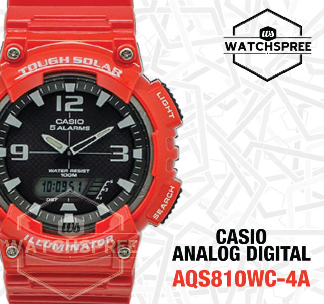 Casio Analog Digital Tough Solar Watch AQS810WC-4A AQ-S810WC-4A