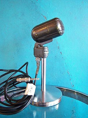 Vintage 1940's Turner 211 dynamic microphone deco old antique used w 14 ft cable