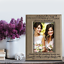 Matron of Honor Best Friend-Thank You gift Bella Busta Engraved Leather frame