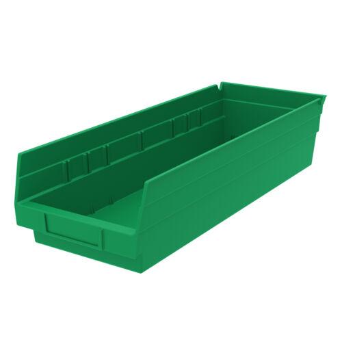 Akro-Mils Shelf Bin 17-7//8D x 6-5//8Wx 4H Green  12 pack