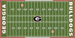 Georgia Bulldogs Electric Football Vinyl Field Cover Wall Art