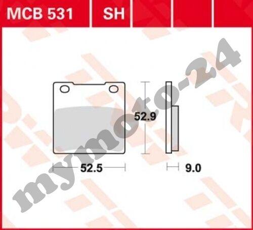 2002 TRW Lucas mcb531sh Plaquette de frein Suzuki gs500 E bk1 bk3 Bj