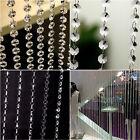 Beauty Chic String Tassel Curtain Room Divider Crystal Beads Door Window Panel