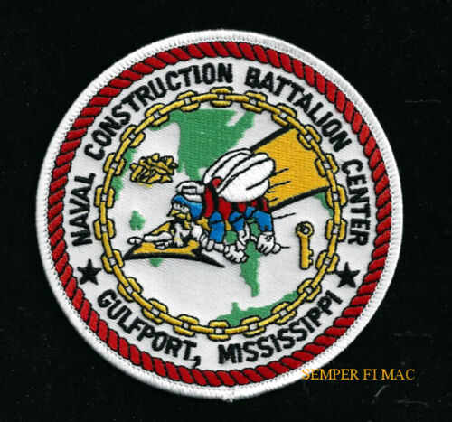 US NAVAL CONSTRUCTION TRAINING CENTER GULFPORT PATCH US NAVY VET PIN UP SEABEES
