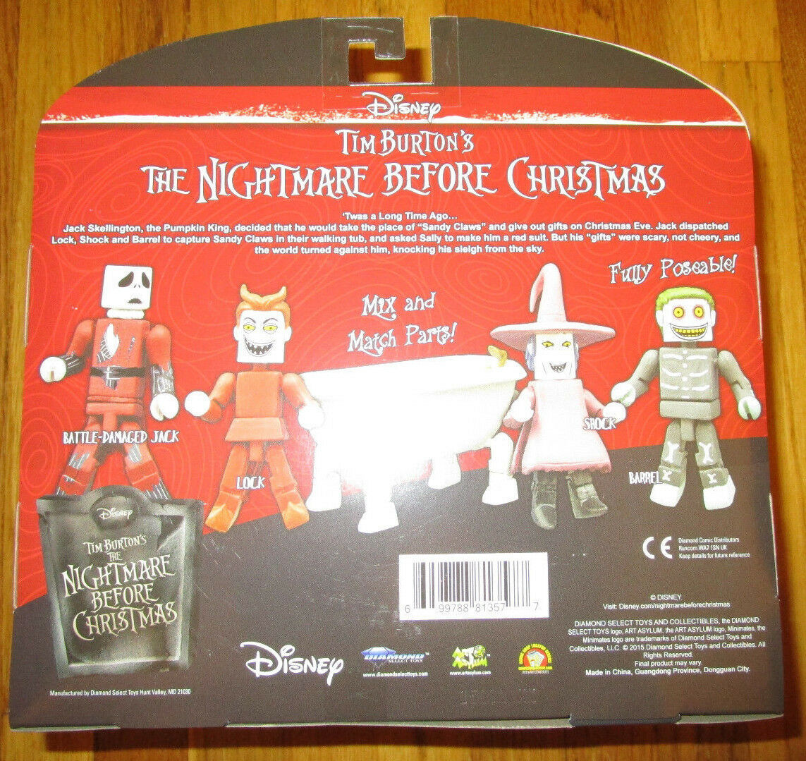 NYCC BEFORE 2015 NIGHTMARE BEFORE NYCC CHRISTMAS MINIMATES DELUXE BOX SET DIAMOND SELECT feba73