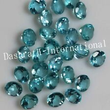 1mm - 5mm Natural Apatite Faceted Cut Round Greenish Blue Color Loose Gemstone