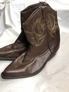 Brown Women Cowboy Boots Size 7 1/2