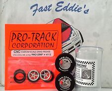 Pro-Track Pro Star Drag Tire Set Chrome 1 1/16 x .500  with Fronts