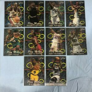 1995-96-Flair-Playmakers-Set-10-Cards-Hardaway-Pippen-Robinson-Miller-etc