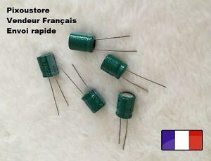 Condensateur chimique Radial 100uF//10V 105°C 10-12 Lot au choix Neufs !
